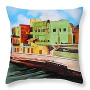 The City Of Matanzas In Cuba Throw Pillow