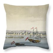 The City Of Paramaribo Throw Pillow