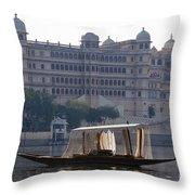 The City Palace, India Throw Pillow