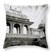 The City Palace Udaipur Throw Pillow