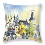 The City Park In Budapest 02 Throw Pillow