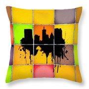 The City Splash Throw Pillow