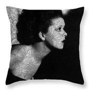 The Clara Bow Tattoo Throw Pillow