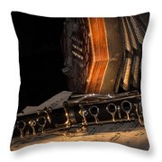The Clarinet And The Concertina Throw Pillow