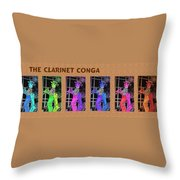 The Clarinet Conga Throw Pillow