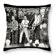 The Clash 1982 Throw Pillow by Chuck Spang