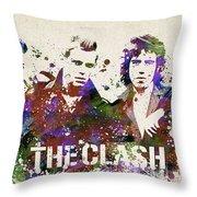 The Clash Portrait Throw Pillow
