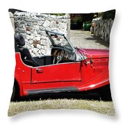 The Classic Red Convertible  Throw Pillow