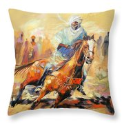 The Clear Leader Throw Pillow