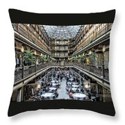 The Cleveland Arcade Throw Pillow