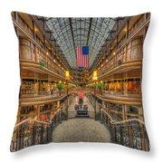 The Cleveland Arcade V Throw Pillow