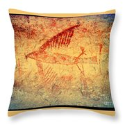 The Cliff Swallow Throw Pillow