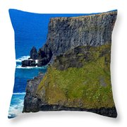 The Cliffs Of Moher In Ireland Throw Pillow