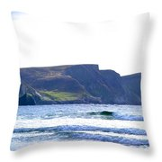 The Cliffs Of Western Eire Throw Pillow