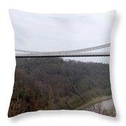 The Clifton Suspension Bridge Throw Pillow
