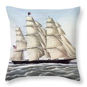 The Clipper Ship Flying Cloud Throw Pillow