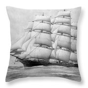 The Clippership Taeping Under Full Sail Throw Pillow