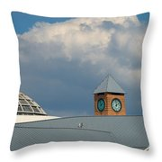 The Clock And The Dome Throw Pillow