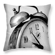 The Clock Throw Pillow