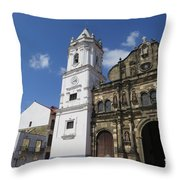 The Clock Of A Lady Throw Pillow