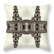 The Clones Of The Church Ruins Sepia Throw Pillow