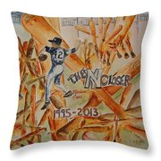 The Closer Throw Pillow by Elaine Duras