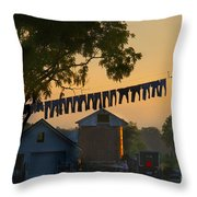 The Clothes Line Throw Pillow