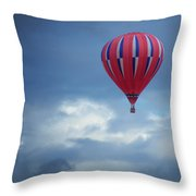 The Clouds Below - Hot Air Balloon Throw Pillow