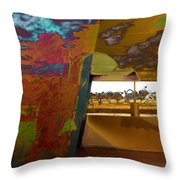 The Clouds Pass By My Window Throw Pillow