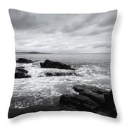 The Cloudy Day In Acadia National Park Maine Throw Pillow