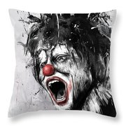 The Clown Throw Pillow by Balazs Solti