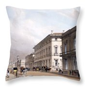 The Club Houses, Pall Mall, 1842 Throw Pillow by Thomas Shotter Boys