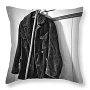 The Coat And The Cane Throw Pillow
