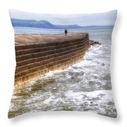 The Cobb - Lyme Regis Throw Pillow
