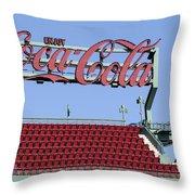 The Coca-cola Corner Throw Pillow