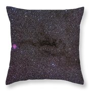 The Cocoon Nebula In The Constellation Throw Pillow by Alan Dyer