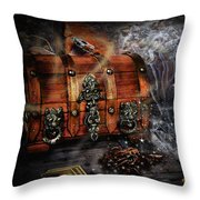 The Coffer Of Spells Throw Pillow