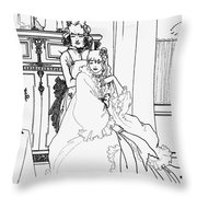The Coiffing Throw Pillow