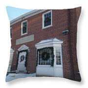 The Cold Spring Harbor Firehouse Throw Pillow