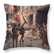 The Coldstream Guards At Landrecies Throw Pillow