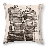 The Colonel And The Mrs Throw Pillow