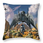 The Colonization Of An Alien World Throw Pillow