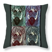 The Color Of Fear Throw Pillow