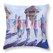 The Color Of Friendship Throw Pillow