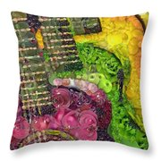 The Color Of Music In The Way Of Arcimboldo Throw Pillow