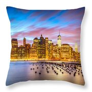 The Color Of New York City Throw Pillow