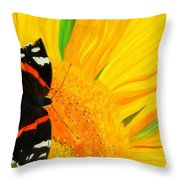 The Color Of Summer Throw Pillow