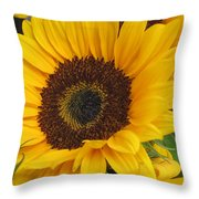 The Color Of Summer - Sunflower Throw Pillow