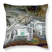 The Color Of The Money Throw Pillow