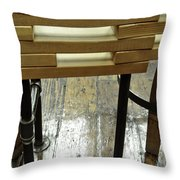The Color Of Wood Throw Pillow